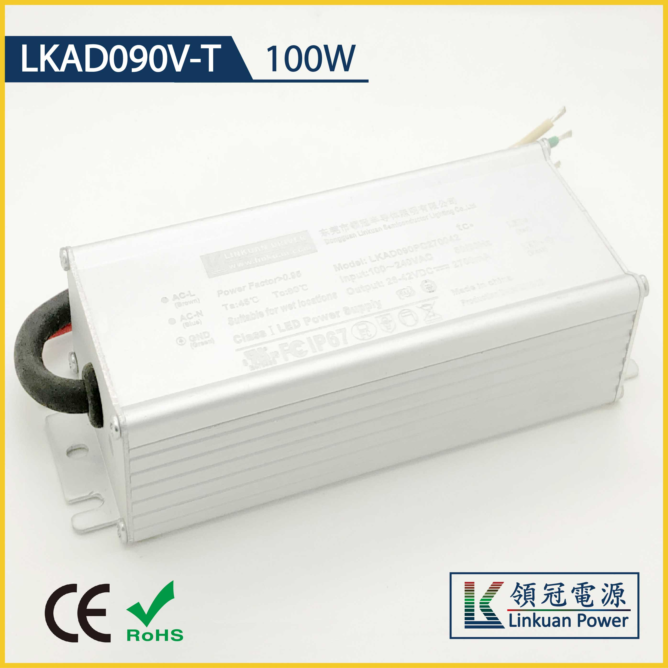 LKAD090V-TD 60W constant voltage 12/24V 10A/5A triac dimmable led driver