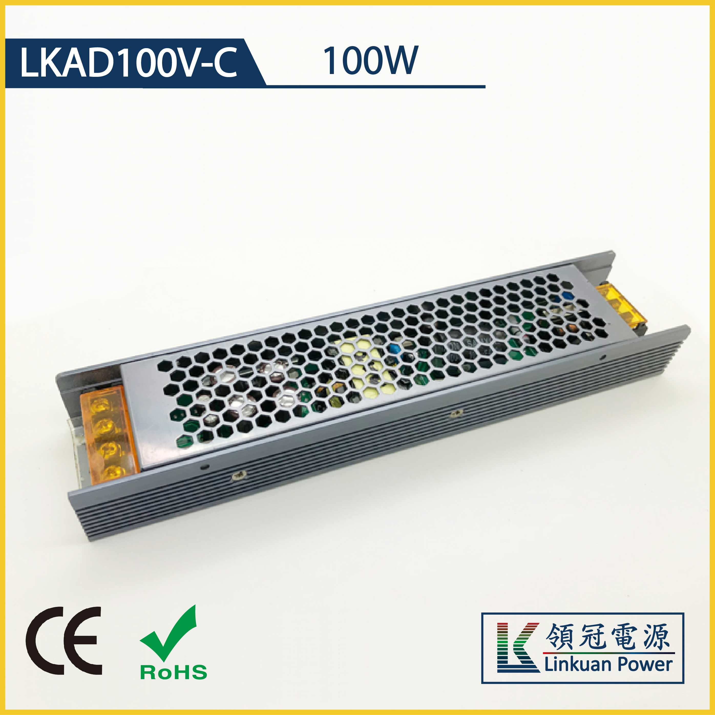 LKAD100V-C 100W 12/24V 8000/4000mA 0-10V Dimming LED drivers